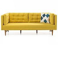 Žlutá trojmístná pohovka Balcab Home Eva