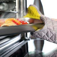 Žluto-šedá bavlněná chňapka se silikonem Vialli Design
