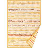 Žlutý vzorovaný oboustranný koberec Narma Saara, 140x200cm