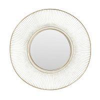 Zrcadlo s rámem ve stříbrné barvě Kare Design Storm Silver, ⌀93cm