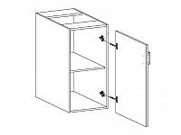 ASPEN, skříňka dolní D40 pravá, bílá/bílý lesk