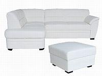 Aspol Kožená rohová sedačka NEVADA, bílá - kůže B-1, levá