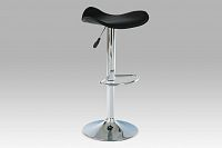 Autronic Barová židle AUB-300 BK, chrom/koženka černá
