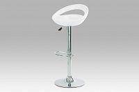 Autronic Barová židle, chrom/plast bílý, AUB-1030 WT