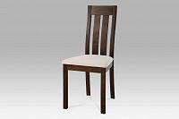 Autronic Dřevěná židle BC-2602 WAL, ořech/potah béžový