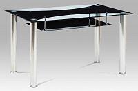 Autronic Jídelní stůl HT-415 BK, sklo / chrom