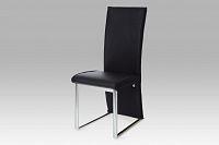 Autronic Jídelní židle AC-1367 BK, chrom/černá koženka