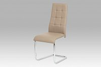 Autronic Jídelní židle AC-1620 CAP, koženka cappuccino / chrom
