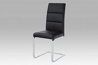 Autronic Jídelní židle B931N BK, koženka černá/chrom