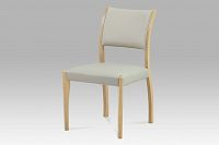 Autronic Jídelní židle, bělený dub / koženka lanýžová, C-186 OAK1