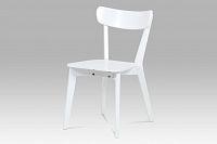 Autronic Jídelní židle celodřevěná AUC-008 WT, bílá