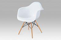 Autronic Jídelní židle CT-719 WT1, plast bílý / natural