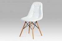 Autronic Jídelní židle CT-720 WT1,  bílá / natural