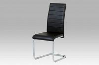 Autronic Jídelní židle DCL-102 BK, černá/šedý lak