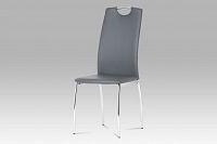 Autronic Jídelní židle DCL-419 GREY, koženka šedá / chrom
