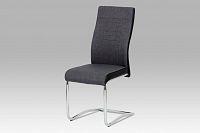 Autronic Jídelní židle DCL-428 GREY2, šedá látka/koženka/chrom