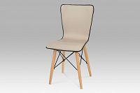 Autronic Jídelní židle, koženka cappuccino / natural, B828 CAP1