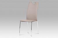 Autronic Jídelní židle, koženka lanýžová / chrom DCL-419 LAN