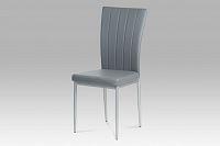 Autronic Jídelní židle, koženka šedá / šedý lak, AC-1287 GREY