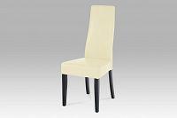 Autronic Jídelní židle, koženka vanilková / wenge, BE21van BK