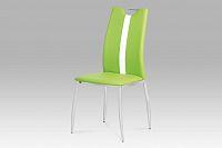 Autronic Jídelní židle, koženka zelená / chrom, AC-1296 LIM