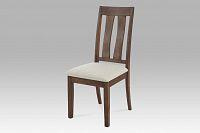 Autronic Jídelní židle, ořech-antik, potah krémový, C-192 ANT