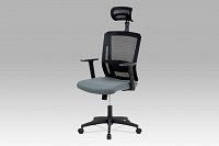 Autronic Kancelářská židle KA-B1076 GREY, šedá látka