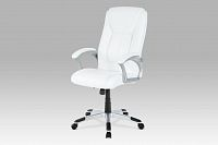 Autronic Kancelářská židle KA-N637 WT, PU bílá