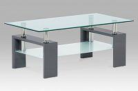 Autronic Konferenční stůl, šedý lesk/sklo AF-1024 GREY