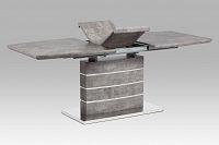 Autronic Rozkládací jídelní stůl HT-301 BET, imitace betonu/broušený nerez