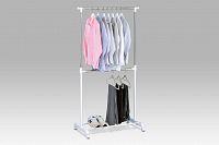 Autronic Stojan na šaty ABD-1213 WT, bílý plast/chrom