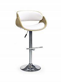 Barová židle ZH-43, bílá/dub