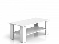 Black Red White NEPO, konferenční stolek LAW/115, bílá