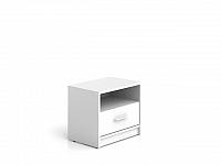 Black Red White NEPO, noční stolek KOM1S, bílá