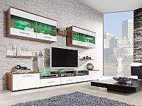 CAMA CAMA I, obývací stěna, švestka/bílý lesk