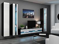 CAMA *Obývací stěna VIGGO NEW 6, černá/bílý lesk