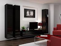 CAMA *Obývací stěna VIGO 1, černá/černý lesk