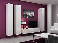 CAMA Obývací stěna VIGO 14, bílá/bílý lesk