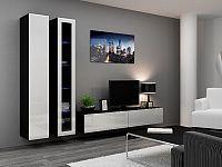 CAMA *Obývací stěna VIGO 3, černá/bílý lesk