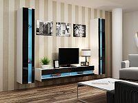 CAMA *Obývací stěna VIGO NEW 3, bílá/černý lesk
