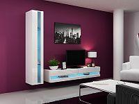 CAMA *Obývací stěna VIGO NEW 8, bílá/bílý lesk