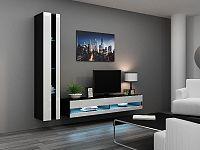 CAMA *Obývací stěna VIGO NEW 8, černá/bílý lesk