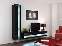 CAMA *Obývací stěna VIGO NEW 8, černá/černý lesk