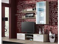 CAMA SOHO, obývací pokoj - sestava 2, dub sonoma/bílý lesk