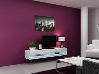 CAMA Televizní stolek VIGO NEW, bílá/bílý lesk