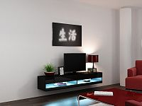 CAMA Televizní stolek VIGO NEW, černá/černý lesk