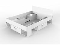 CHICAGO, postel 140x190/200 cm, bílá, postel 140x190/200 cm, bílá