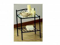 DEMEYERE BOCHEME, noční stolek, kov/sklo