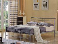 DORADO kovová postel s roštem 160x200 cm, stříbrný kov