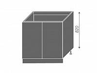Extom EMPORIUM, skříňka dolní dřezová D8z 80, korpus: bílý, barva: white
